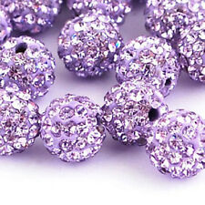 Lots Quality Czech Crystal Rhinestones Pave Clay Round Disco Ball Spacer Beads