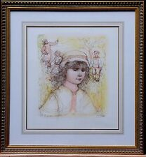 """Edna Hibel - Limited Edition, Lithigraph -""""Becca""""- Hand Signed by Artist"""