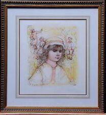 """Edna hibel-édition limitée, lithigraph - """"Becca"""" - main signé par l'artiste"""