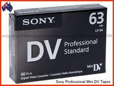 3x Sony DVM63PS PROFESSIONAL Mini DV Cassettes DVM63PS Mini DV Tape 3 Tapes NEW!