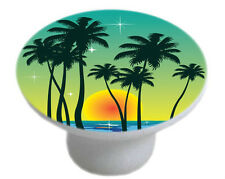 Tropical SUNSET Cabinet DRAWER Pull KNOB Ceramic