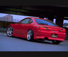 TeamJetspeed Made Fiberglass NISSAN 200SX Silvia S15 Vertex Style Rear Bar RAW