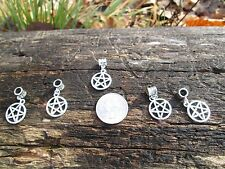 FIVE Small ** PENTAGRAM ** Charms fit European style DIY Bracelets