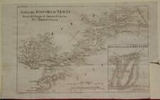 BYZANTHUM BOSPHORUS TURKEY 1791 DE BOCAGE UNUSUAL ANTIQUE MAP ITALIAN EDITION