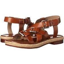 $495 Michael Kors Collection Caldwell Runway Leather & Jute sandals EU 41 US 11