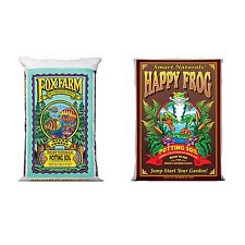 FoxFarm Ocean Forest Garden Soil Mix + Happy Frog Organic Potting Soil Mix