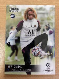 2021 Topps Stadium Club Chrome Xavi Simons Rookie Card PSG Champions League