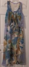 Woman's Sleeveless Maxi Dress By Mlle Gabrielle, Size M, NWT
