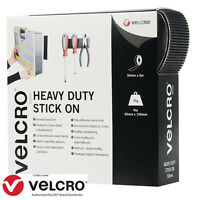 VELCRO® Brand HEAVY DUTY Self Adhesive Stick on Tape Black/White 20CM to 5M