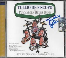 """TULLIO DE PISCOPO - RARO CD CON AUTOGRAFO """" LIVE IN ZURICH AT MOODS CLUB """""""