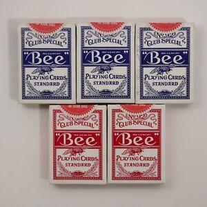 No 92 Bee Diamond Back Club Special Playing Cards Cambric Finish Harrah's Reno