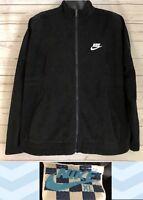 VTG NIKE Men's XL Black Full Zip Jacket Lightweight