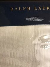 NWT RALPH LAUREN COVE BLACK PALMS CREME WARM WHITE STANDARD SHAM $145