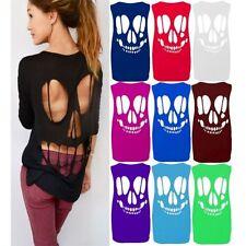 Unbranded Skull Plus Size Sleeveless T-Shirts for Women
