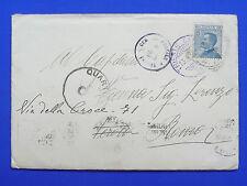 $WW1 1919 BUSTA TIMBRO BLU CENSURA 23 TRIESTE SU MICHETTI 25 CENT.STORIA POSTALE