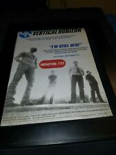 Vertical Horizon I'm Still Here Rare Original Radio Promo Poster Ad Framed!