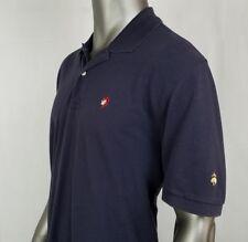 Men's Brooks Brothers Pirate Gold Fleece Performance Polo Blk SS Shirt Sz Large