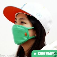 CooterBoy Vivid Green 100% Cotton Face Mask Adult Anti-dust Surgical K-pop Mask