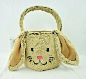 Celebrate - Brown Bunny Easter Basket - Plush Faux Fur (Toys/Easter/Decorative)