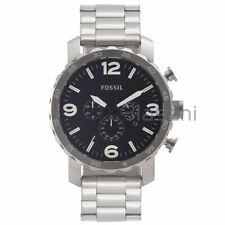 Fossil Original JR1353 Men's Nate Silver Stainless Steel Watch 50mm