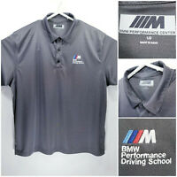 BMW Performance Driving School Mens Large Shirt Polo Gray