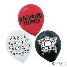 "Stranger things 12"" Latex Balloons x 6"