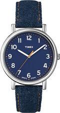 Timex Originals Large Quartz Watch T2N955, Indiglo Night Light, Denim Strap.