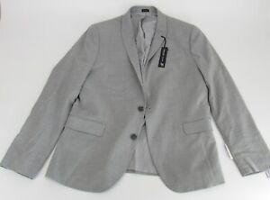 Men's J Ferrar Stretch Super Slim Suit Jacket Light Grey Gray Size 42S MSRP $190