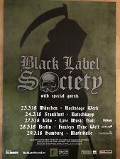 BLACK LABEL SOCIETY 2018 TOUR  - orig.Concert Poster -- Konzert Plakat  A1 NEU