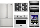 """Viking Package with 30"""" Cooktop, Oven, 2 Microwave Drawers, Bev Center & Fridge photo"""