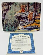 Bighorns Linger On The Edge ~ Signed & Numbered Bradford Exchange Plate #7571A