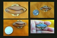 """L X 1"""" W Very Select Agate Gold Filled Agate Oval Brooch 1 3/4"""""""