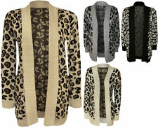Animal Print Machine Washable Plus Size Jumpers & Cardigans for Women