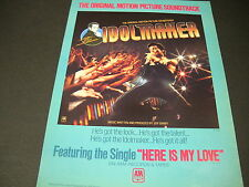 The Idolmaker from Jeff Barry 1980 Promo Poster Ad mint condition