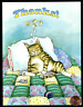GARY PATTERSON Cute  Sleeping Kitten Cat Bed Mouse - Thank You Greeting Card NEW