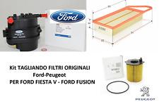 Kit TAGLIANDO FILTRI + 4 LITRI OLIO REPSOL PER FORD  FIESTA V 1.4 TDCI