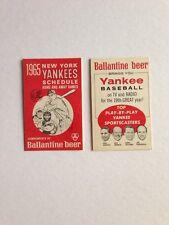 1965 New York Yankees Vintage Pocket Schedule Ballantine Beer NR-MT+ Unused