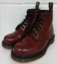 DR MARTENS OXBLOOD 10084 6 EYE LEATHER BOOTS  - SIZE 5 UK / 38
