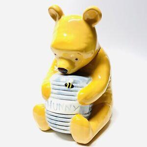 "Vintage DISNEY WINNIE THE POOH Bear With His Hunny Pot Cookie Jar 12"" Tall"