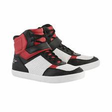 Alpinestars Lunar Motorcycle Motorbike Short Shoes Boots - Red / White / Black