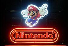 "17""X14"" New Nintendo Super Mario Game Room Beer Neon Sign Fast Ship Decor RT"