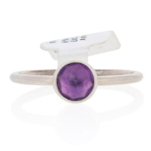 NEW Authentic Pandora February Droplet Ring Silver Purple 52 (US 6) 191012SAM