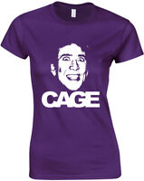 Cage, Nicolas Cage inspired Ladies Printed T-Shirt Short Sleeve Women Tee Top