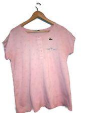 Vintage Women's Chemise Lacoste Pink Tennis T Shirt Size 42