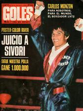 CARLOS MONZON The Boxer 1972 - Original Goles # 1252 magazine Argentina