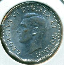 1944 CANADA FIVE CENTS, CHOICE AU/BU, READ, GREAT PRICE!