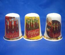 Birchcroft China Thimbles -- Set of Three -- Coca Cola Six Pack Posters