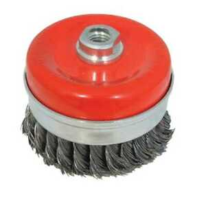 Steel Twist-Knot Cup 100mm Rotary Wire Brush Angle Grinder M14 Paint Remover