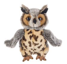 "Heritage Brown and Gray Eagle Owl, 12"" - Stuffed Animal by Ganz"