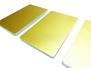 Plastikkarten GOLD | 1 - 500 Stück | Premium Qualität aus Deutschland
